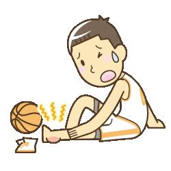 スポーツによる足首の捻挫で悩んでいる男の子のイラスト|一宮市にある西山接骨院